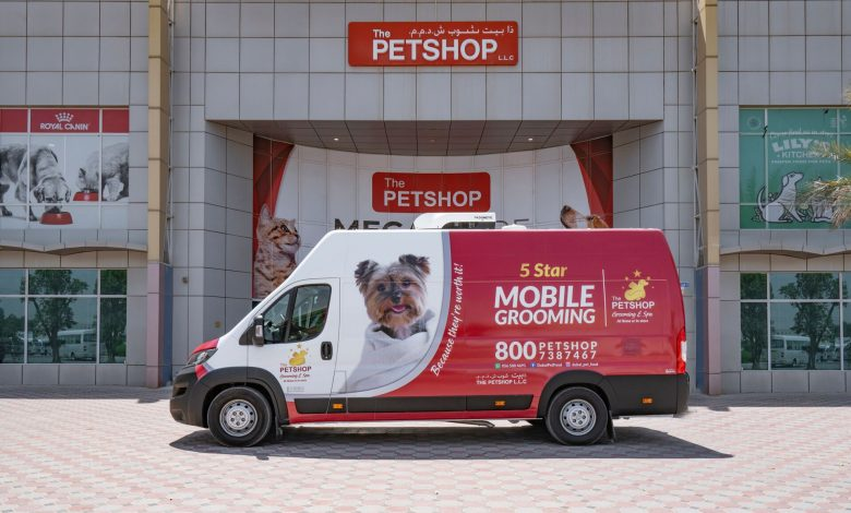 بيت شوب يقدم أول خدمة متنقلة للعناية بالحيوانات الأليفة في دبي