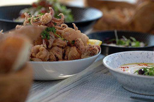أطباق مطعم شيمرز دبي
