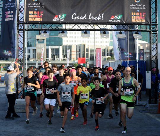 دبي تستضيف الموسم الثاني من سباق نصف ماراثون دبي فستيفال سيتي 2019