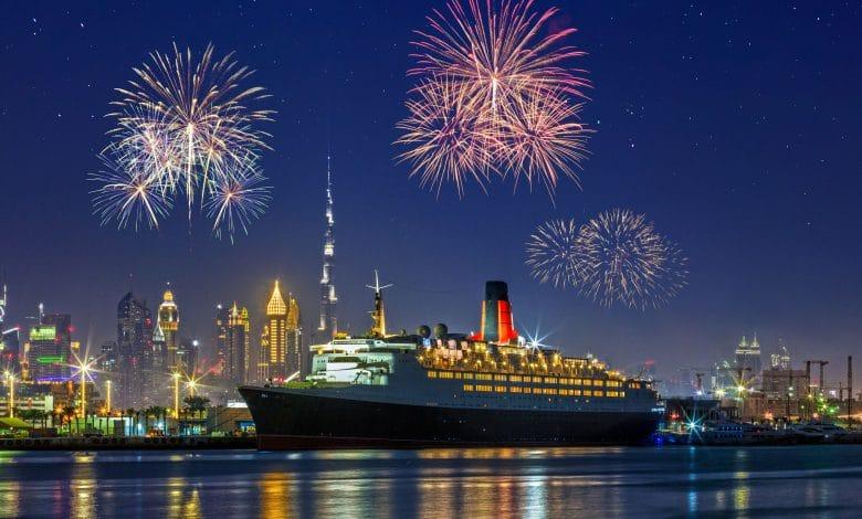 عروض سفينة الملكة إليزابيث 2 إحتفالاً برأس السنة 2020