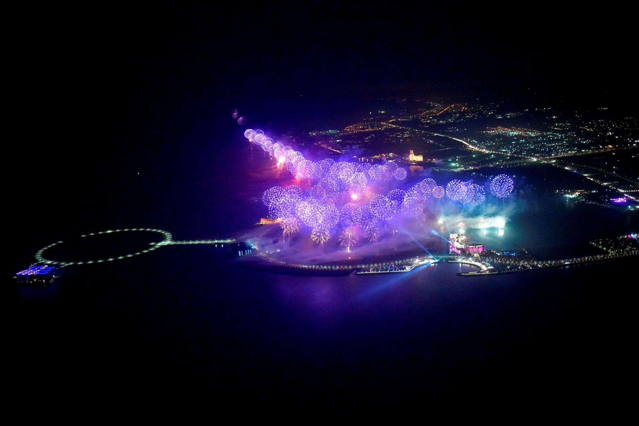 إحتفالات ضخمة بليلة رأس السنة 2020 في هيلتون جزيرة المرجان