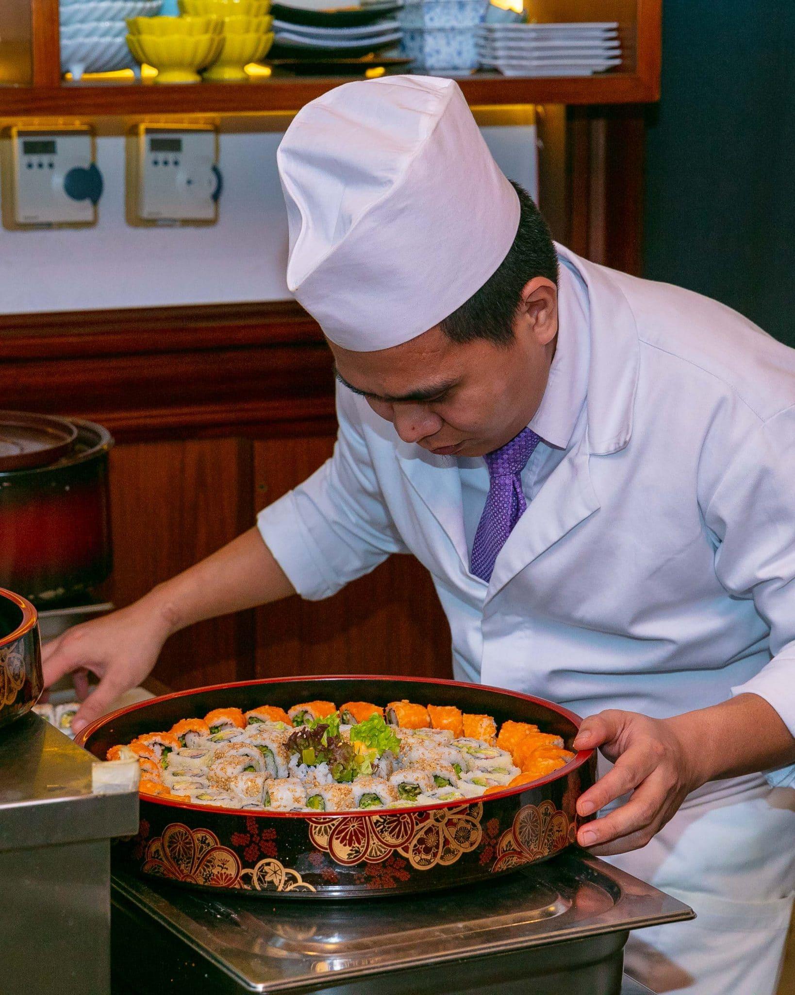 جانب من أطباق مطعم ماتسو الياباني في أبوظبي