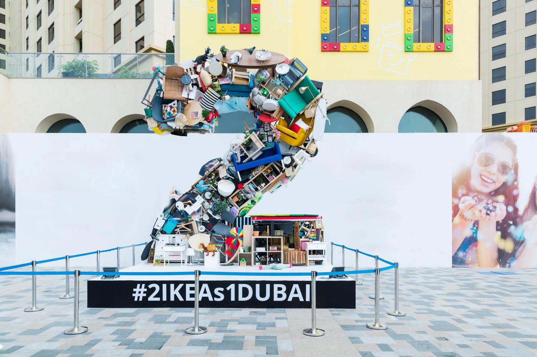 مجسم فني ضخم في جميرا بيتش ريزيدنس