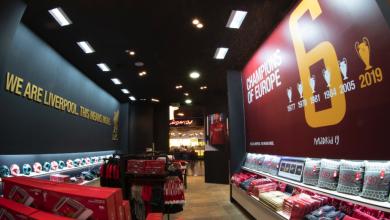 أول متجر مستقل لنادي ليفربول في دبي مول