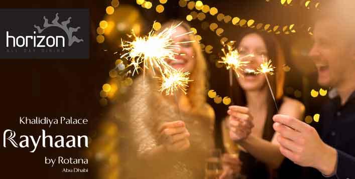 بوفيه ليلة رأس السنة 2020 في مطعم هورايزون أبوظبي