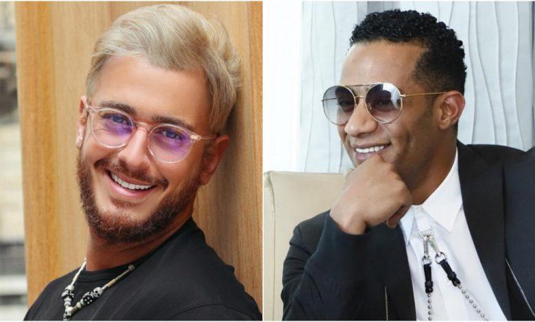 حفل الفنانين محمد رمضان وسعد لمجرد في دبي خلال يناير 2020