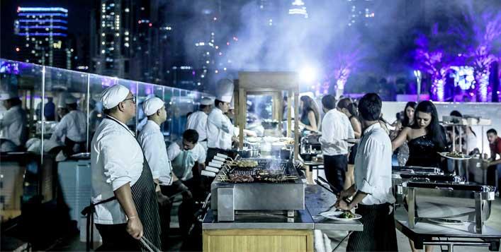 بوفيه عشاء ليلة رأس السنة 2020 في مطعم لا تراس دبي