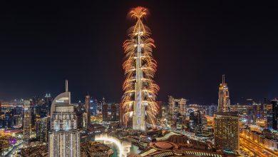 صورة إعمار تبهرنا بعرض للألعاب النارية في برج خليفة إحتفالاً بالسنة الجديدة