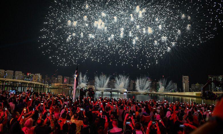 جزيرة الماريه تنجح في تقديم احد أكبر الاحتفالات بالعام الجديد