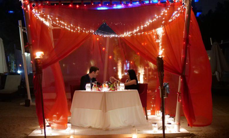 Romantic Cabana Dinner