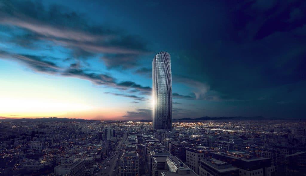 اطول برج في الاردن