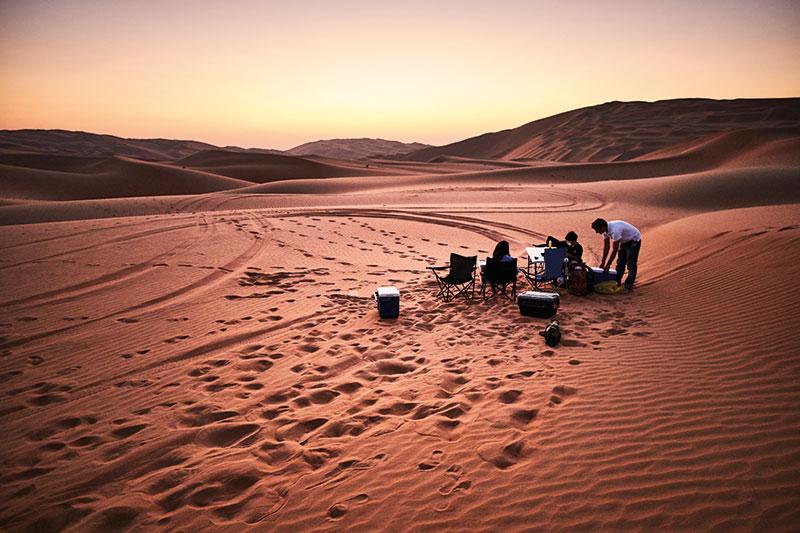 اخرج إلى الصحراء