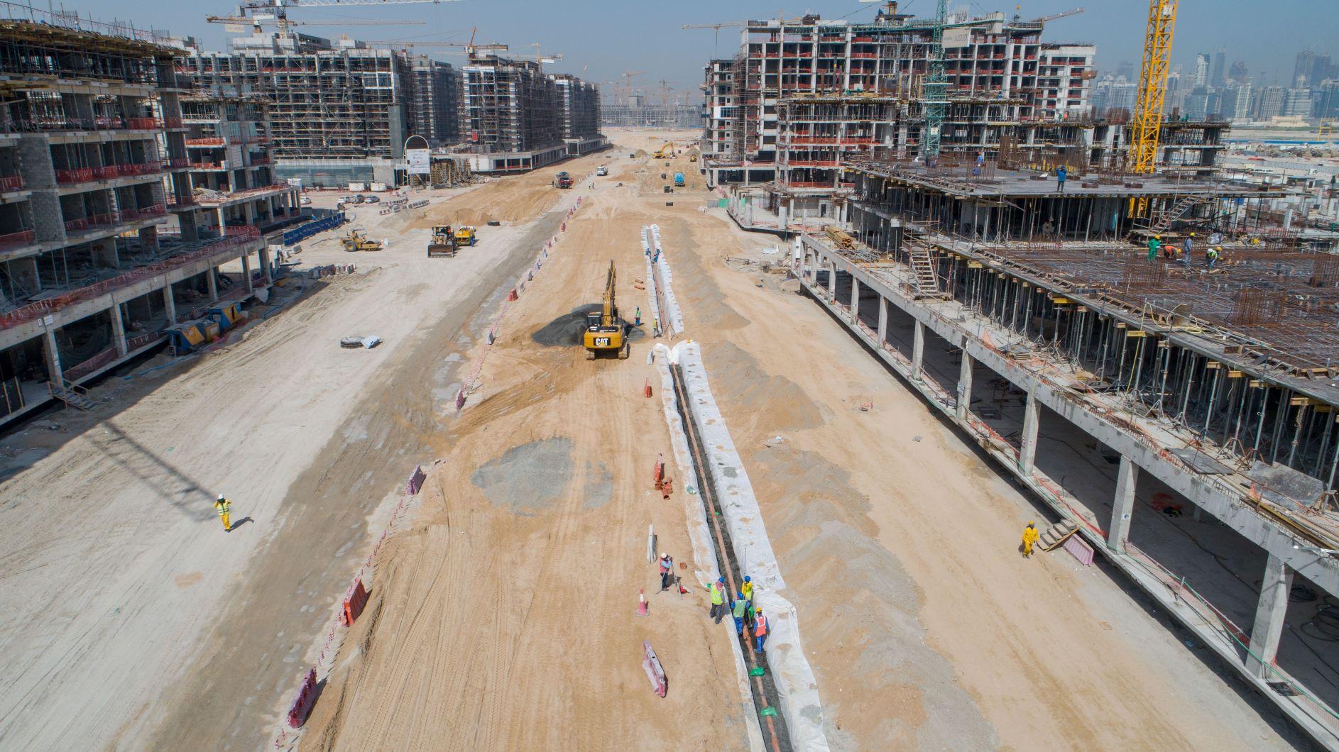 عزيزي للتطوير العقاري تحرز تقدم سريع في أعمال البنية التحتية لمدينة محمد بن راشد