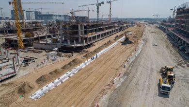 صورة عزيزي للتطوير العقاري تحرز تقدم سريع في أعمال البنية التحتية لمدينة محمد بن راشد