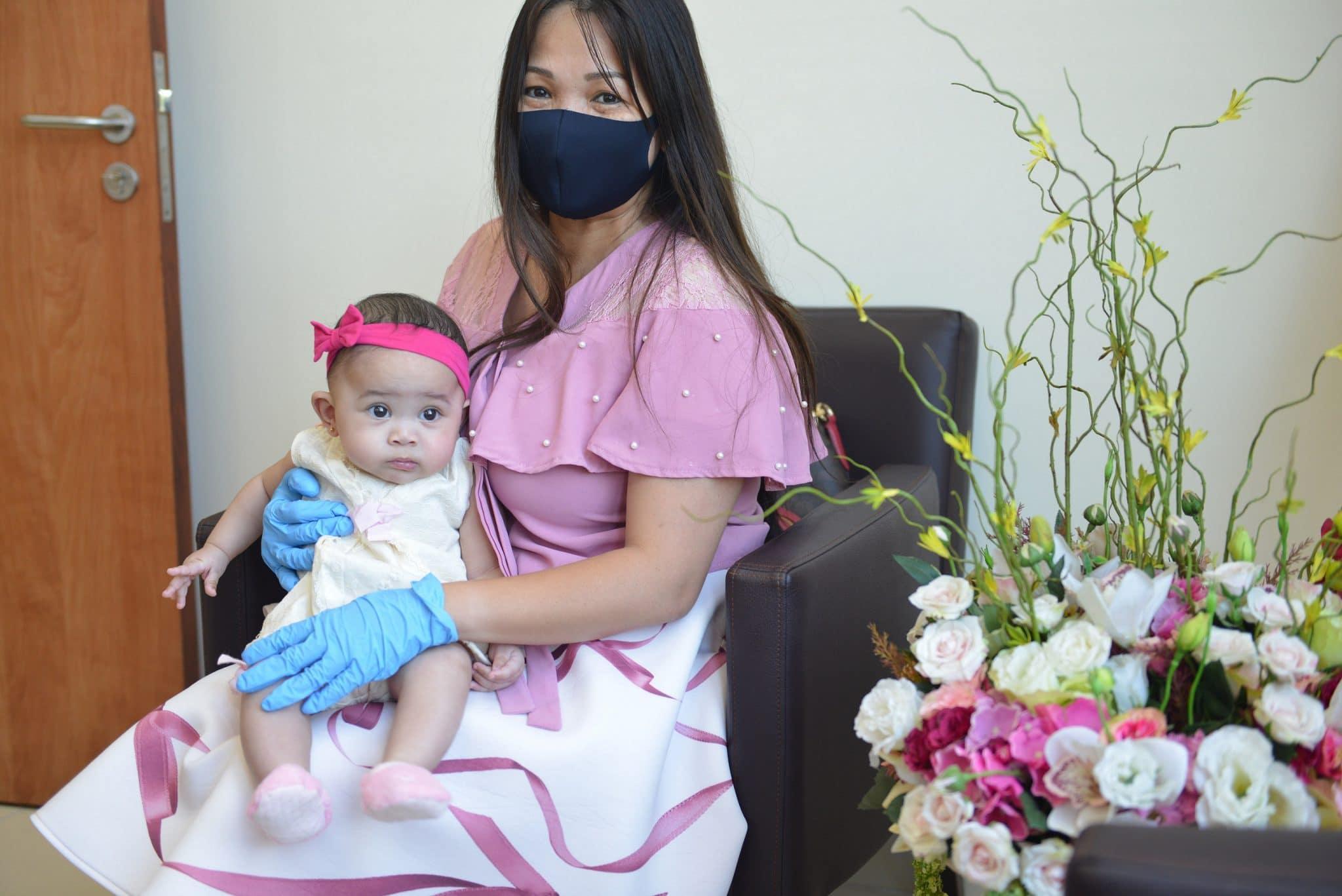 أصغر طفلة مُصابة بكورونا
