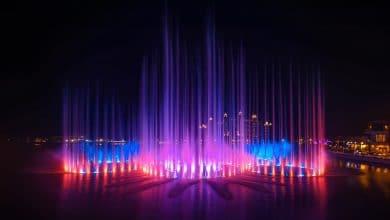 صورة ذي بوينت تستعد للحصول على لقب غينيس لأكبر نافورة مياه في العالم