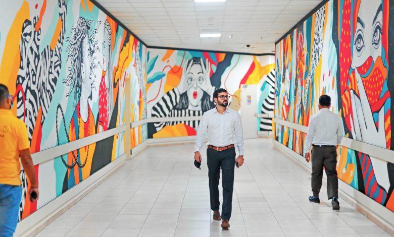 إبن بطوطة مول يتزين بلوحات من فن الجرافيتي للفنان شاهول حميد