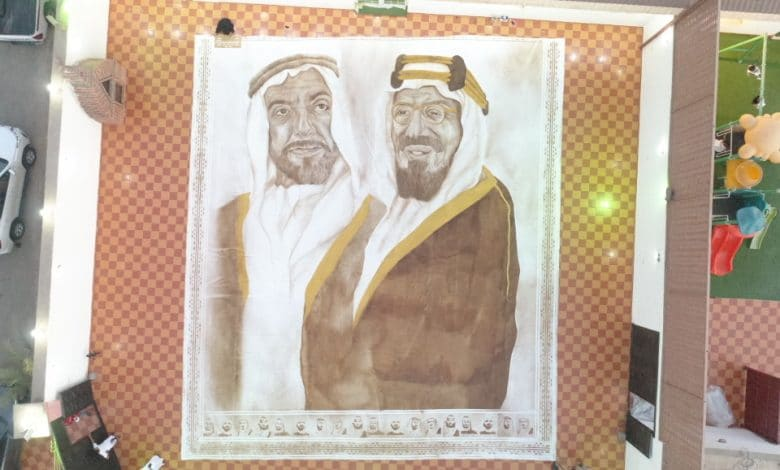 فنانة سعودية تحقق لقب جينيس لأكبر لوحة فنية مرسومة بالقهوة