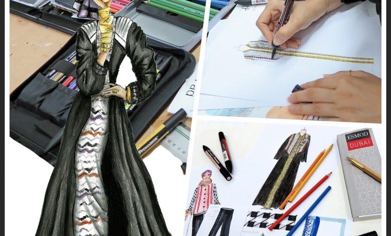 Abaya sketch_ESMOD Dubai
