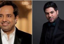 النجمان راشد الماجد ووليد الشامي في دبي خلال يناير 2021