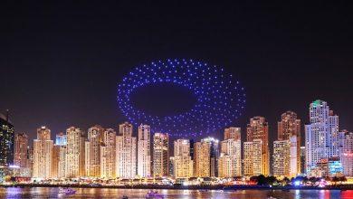 عروض مذهلة لطائرات الدرون الضوئية تذهل السياح و السكان في دبي