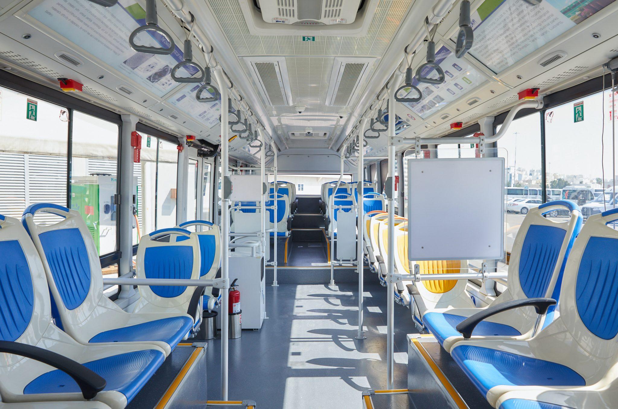 حافلات كهربائية صديقة للبيئة