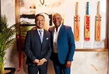 Ranjit Phillipose, Area Director – Middle East and General Manager, Taj Dubai with Brian Lara