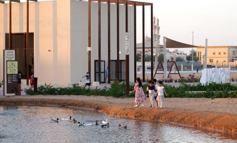 افتتاح منتزهي كشيشة وشغرافة في الشارقة