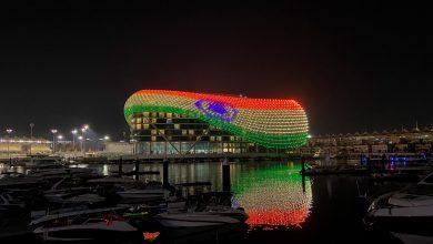 جزيرة ياس تضيئ مبنى فندق دبليو أبوظبي تضامنا مع جمهورية الهند