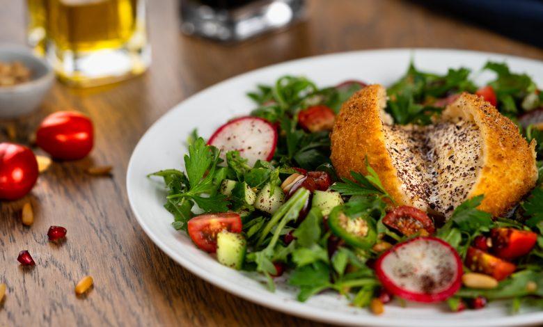 Fried Burrata and Extraordinary Fattoush Salad