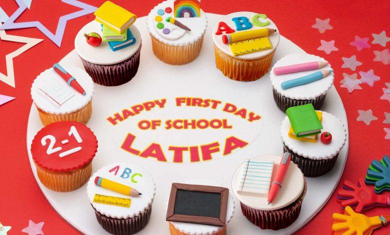 Back to school cupcake board